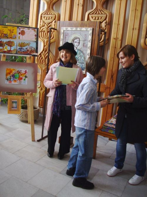 Exhibition of children's paintings marked the end of the project